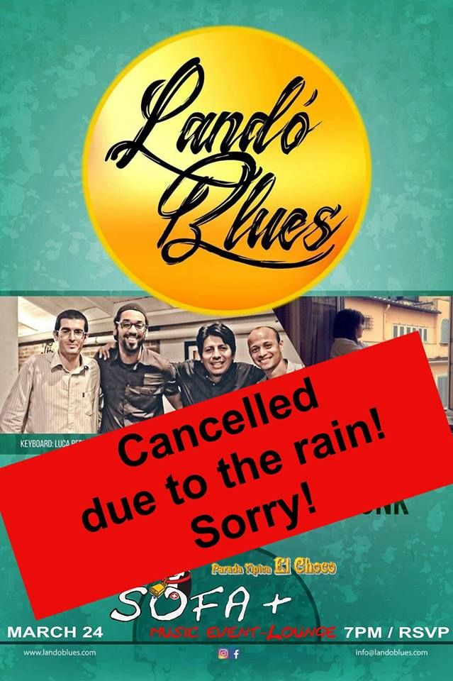 Cancelled due to the rain, Sorry!