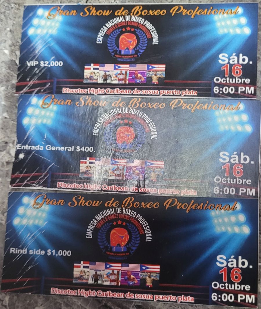 Professional boxing gala in High Caribbean